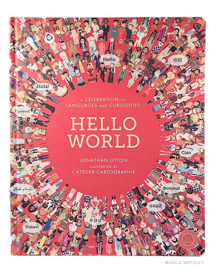 Hello World children's illustrated atlas and book