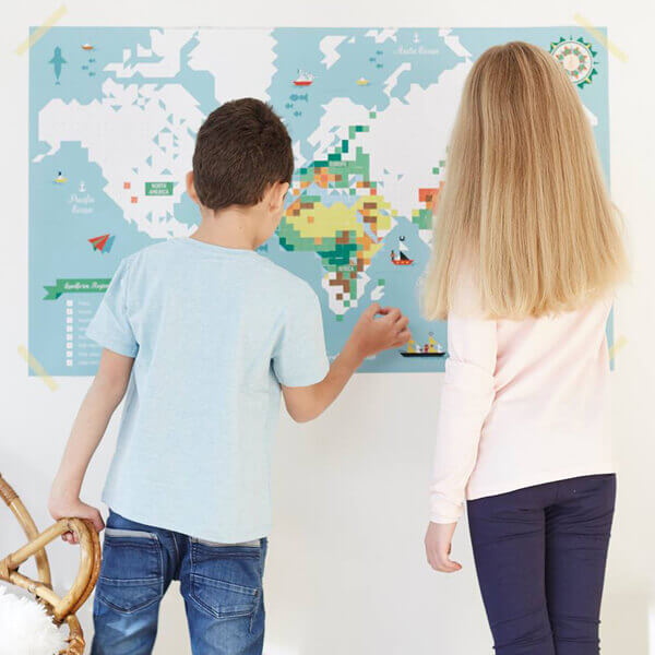 Map of the world Poppik sticky poster